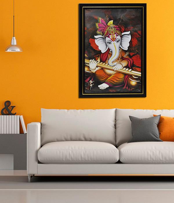 Loard Ganesha Wall Painting For Living Room Badroom