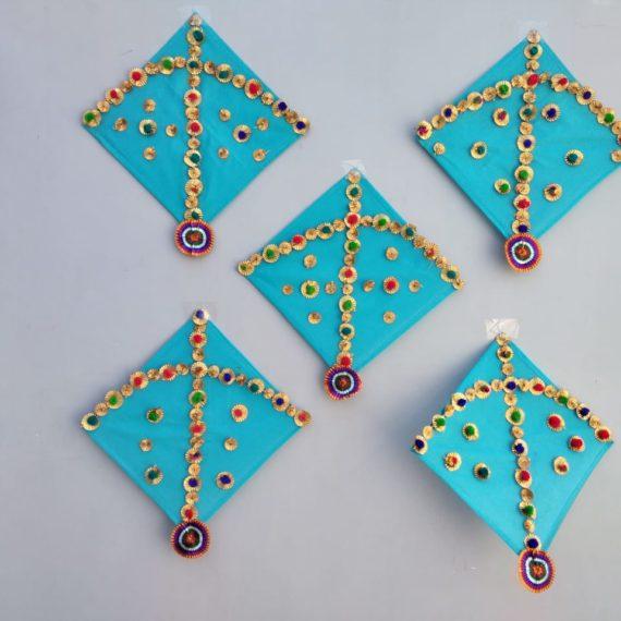 Decorative cloth kite for event decor set of 2